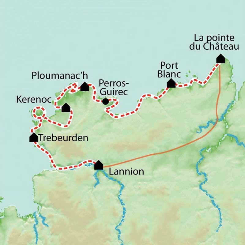 Randonnée Côte de granit Rose, sentier des Douaniers