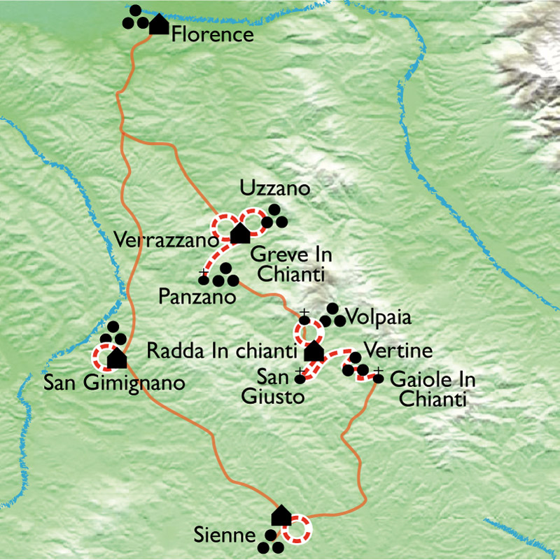 Randonn 233 E Florence Chianti Sienne En Italie